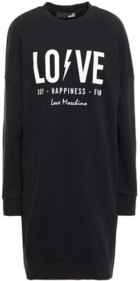 Love Moschino Printed French Cotton-blend Terry Dress