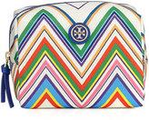 Tory Burch Brigitte Chevron Nylon Cosmetics Bag, Multi