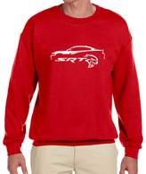 Maddmax Car Art Dodge Charger SRT Hellcat Classic Car Outline Design Sweatshirt XL