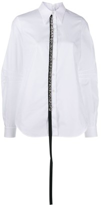No.21 embellished tab shirt