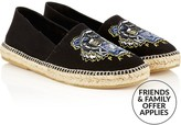 Kenzo Men's Tiger Embroidered Canvas Espadrilles- Black