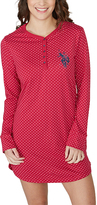 U.S. Polo Assn. Red & White Polka Dot Henley Sleepshirt