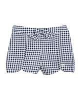 Mayoral Gingham Bow-Front Cotton Shorts, Size 12-36 Months