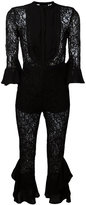 Christian Pellizzari floral lace jumpsuit - women - Polyamide/Polyester/Viscose - 40