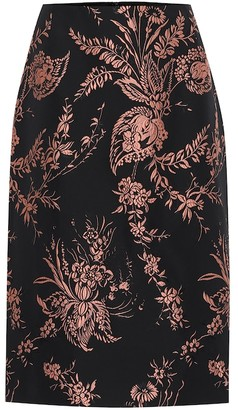Dries Van Noten Floral brocade pencil skirt