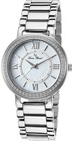 Lucien Piccard Women's LP-11902-22MOP Analog Display Silver-Tone Watch