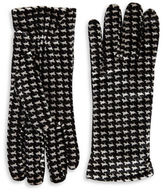 Cejon Houndstooth Velvet Gloves