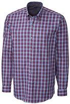 Cutter & Buck Men's Long Sleeve Dunbar Plaid Woven Shirt