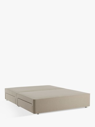 John Lewis & Partners Pocket Sprung 2500 4 Drawer Storage, Double Upholstered Divan Base, Canvas Stone Grey, FSC-Certified (Pine)