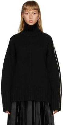Peter Do Black Wool Oversized Sweater