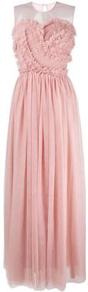 P.A.R.O.S.H. Frill Tulle Maxi Dress