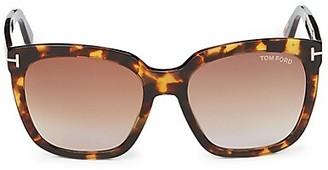Tom Ford 55MM Square Sunglasses