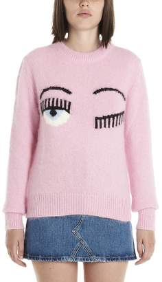 Chiara Ferragni Flirting Eyes Sweater