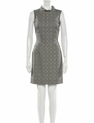 Alexander McQueen Plaid Print Mini Dress Grey
