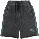 Colosseum Youth Charcoal/Green Michigan State Spartans The Majors Fleece Shorts