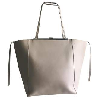 Celine Clasp White Leather Handbags