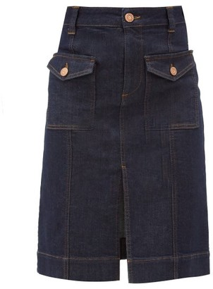 See by Chloe Flap-pocket Denim Skirt - Indigo
