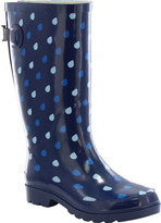 Western Chief Women's Wide Fit Raindrop Dot Rain Boot