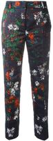 Cédric Charlier floral print cropped trousers - women - Polyester - 40