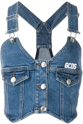 GCDS Buttoned Denim Top