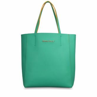 Claudia Canova Womens Simple Tote Style Bag Shoulder Bag Pink (Peach)