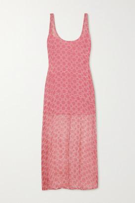 CLOE CASSANDRO + Net Sustain Elodie Printed Crepon Midi Dress - Antique rose