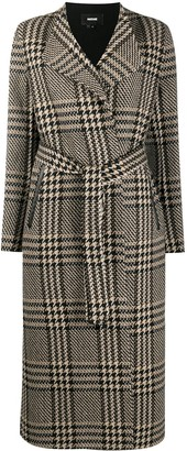 Mackage Rosa plaid-check coat