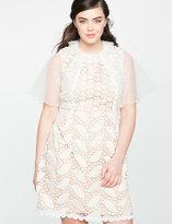 ELOQUII Plus Size Mixed Lace Dress