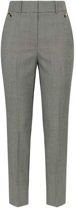 Petar Petrov Helen Houndstooth Contrast Wool Trousers