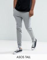 Asos Tall Skinny Jersey Joggers In Grey Marl
