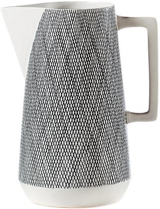 Torre & Tagus Bergen Weave White Ceramic Pitcher