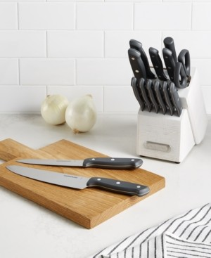 Farberware 15-Pc. Rustic White Wash Cutlery Set