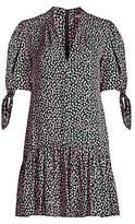 Rebecca Taylor Women's Wild Rose Flounce Hem Mini Dress