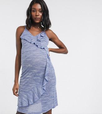 Mama Licious Mamalicious ruffle front dress