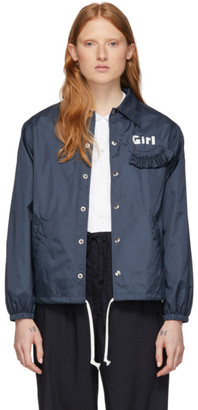 COMME DES GARÇONS GIRL Navy Logo Coaches Jacket