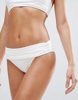 Vince Camuto High Waist Ruched Bikini Bottoms