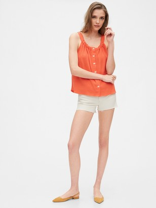 Gap Button-Front Gauze Tank Top