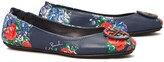 Tory Burch MINNIE PRINTED TRAVEL BALLET FLAT, LEATHER