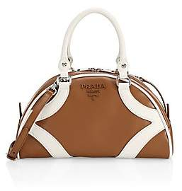 Prada Women's Bowling Leather Top Handle Bag