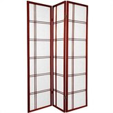 Oriental Furniture Premium Quality, 6-Feet Double Cross Folding Shoji Privacy Floor Screen