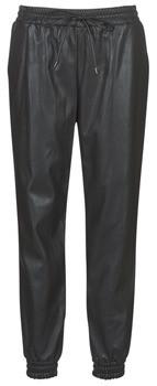 MICHAEL Michael Kors LEATHER JOGGER PANT women's Trousers in Black