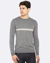 Oxford Finn Striped Front Knit