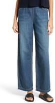Vince Women's High Rise Side Zip Wide Leg Ankle Jeans
