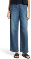 Vince Women's High Waist Side Zip Wide Leg Ankle Jeans
