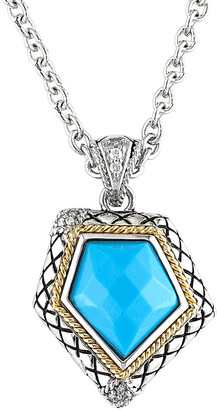 Candela Andrea Rocas 18K & Silver Diamond & Turquoise Pendant Necklace