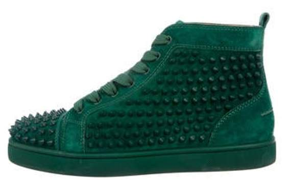0342184716c Suede Louis Spikes High-Top Sneakers green Suede Louis Spikes High-Top  Sneakers
