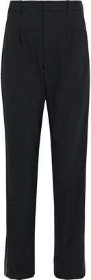 Area Crystal-trimmed Woven Straight-leg Pants