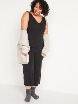 Old Navy Cozy Plush-Knit V-Neck Plus-Size Jumpsuit