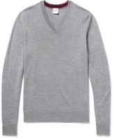 Paul Smith Mélange Merino Wool Sweater - Gray