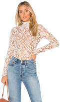 Nightcap Clothing Sweater Lace Collar Top in Cream. - size 2 (S) (also in 3 (M),4 (L))